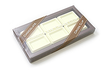 Ohto Chocolate Bar Cross Paper Clip - White - Pack of 6 - OHTO CCC-420WHITE