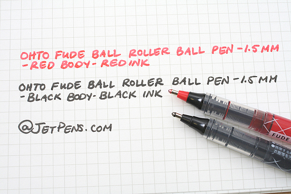 Ohto Fude Ball Liquid Ink Rollerball Pen - 1.5 mm - Red Body - Red Ink - OHTO CFR-150FB-RED