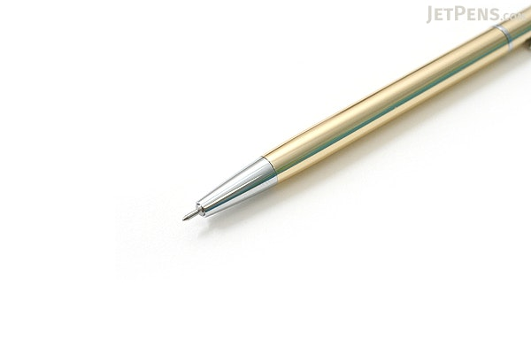 Ohto Needle-Point Slim Line 03 Ballpoint Pen - 0.3 mm - Gold Body - OHTO NBP-5A3-GOLD
