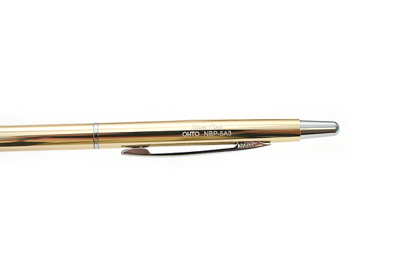 Ohto Needle-Point Slim Line 03 Ballpoint Pen - 0.3 mm - Gold Body - OHTO NBP-5A3-GOLD