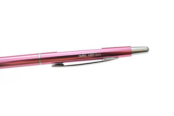 Ohto Needle-Point Slim Line 03 Ballpoint Pen - 0.3 mm - Pink Body - OHTO NBP-5A3-PINK