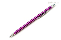 Ohto Needle-Point Slim Line 03 Ballpoint Pen - 0.3 mm - Purple Body - OHTO NBP-5A3-PURPLE