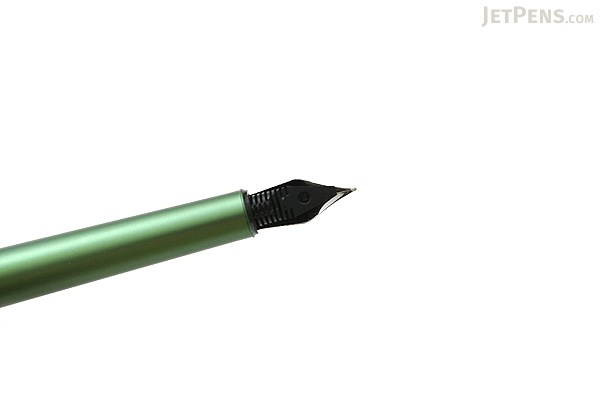 Ohto Rook Fountain Pen - Black Green - Fine Nib - OHTO FF10RO-BG