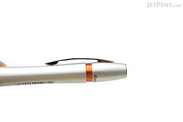 Ohto Rook Fountain Pen - Fine Nib - Silver Orange Body - OHTO FF10RO-SO