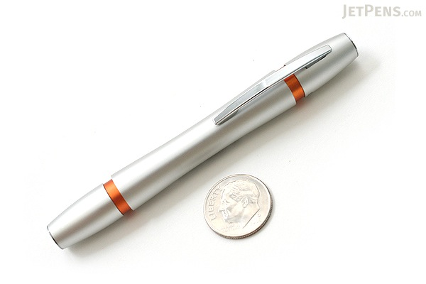 Ohto Rook Fountain Pen - Fine Nib - Silver Orange Body - OHTO FF10RO-SO