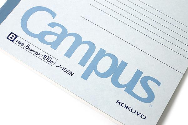 "Kokuyo Campus Notebook - Semi B5 (7"" X 9.8"") - Normal Rule - 35 Lines X 100 Sheets - Bundle of 5 - KOKUYO NO-10B BUNDLE"