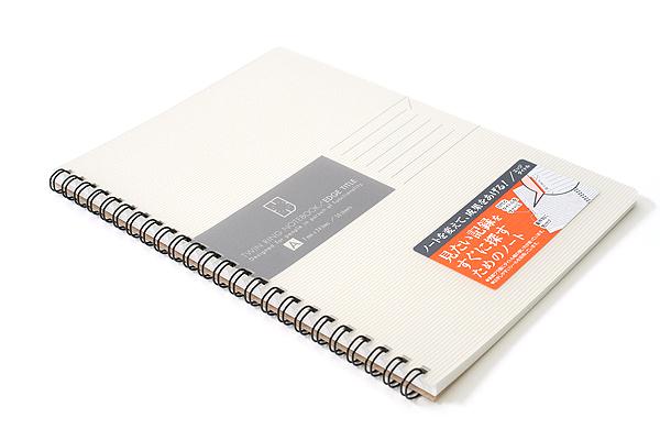 Kokuyo Edge Title Twin Ring Notebook - A5 - White - KOKUYO SU-TJ105A