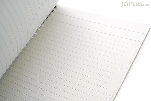 "Kokuyo Edge Title Twin Ring Notebook - A5 (5.8"" X 8.3"") - 24 Lines - 50 Sheets - White - Bundle of 5 - KOKUYO SU-TJ105A BUNDLE"