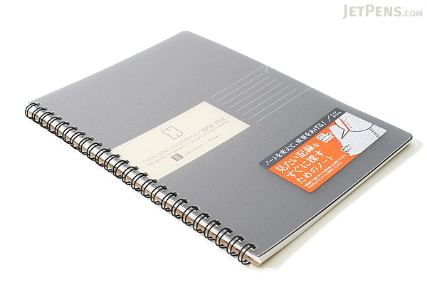 Kokuyo Edge Title Twin Ring Notebook - A5 - Black - KOKUYO SU-TJ105B