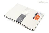 Kokuyo Edge Title Twin Ring Notebook - Semi B5 - White - KOKUYO SU-TJ4A