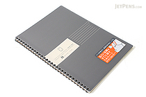 Kokuyo Edge Title Twin Ring Notebook - Semi B5 - Black - KOKUYO SU-TJ4B