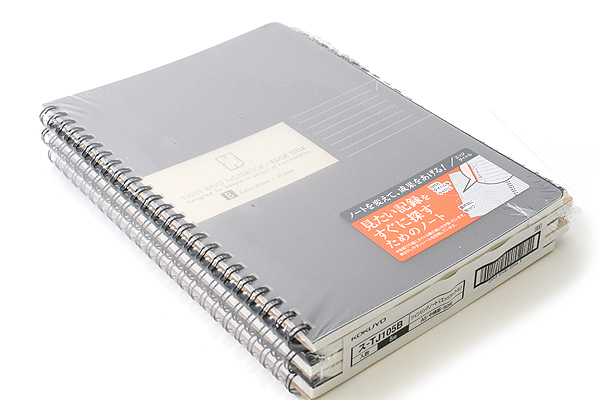 "Kokuyo Edge Title Twin Ring Notebook - A5 (5.8"" X 8.3"") - 28 Lines - 50 Sheets - Black - Bundle of 5 - KOKUYO SU-TJ105B BUNDLE"