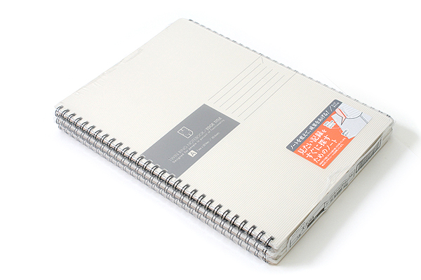 "Kokuyo Edge Title Twin Ring Notebook - Semi B5 (7"" X 9.8"") - 30 Lines - 40 Sheets - White - Bundle of 5 - KOKUYO SU-TJ4A BUNDLE"