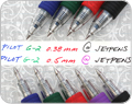 Pilot G-2 Gel Ink Pens with writing sample