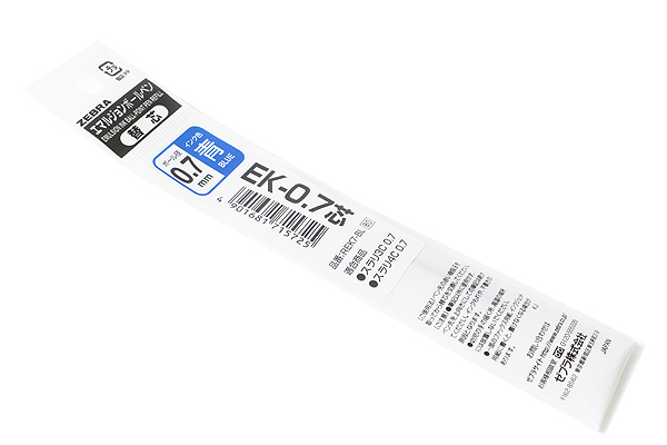 Zebra EK-0.7 Surari Emulsion Ink Multi Pen Refill - 0.7 mm - Blue - ZEBRA REK7-BL