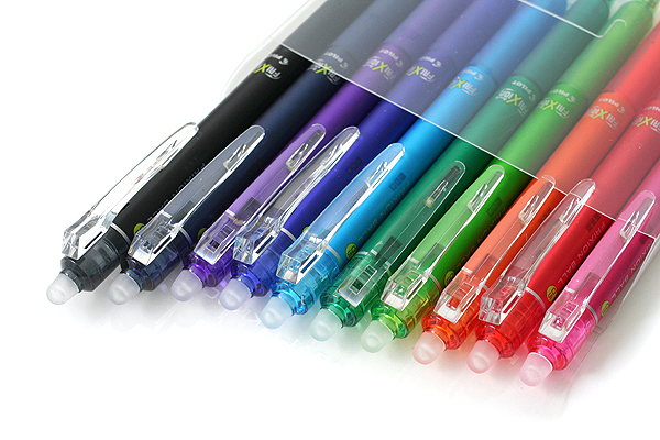 Pilot FriXion Ball Knock Retractable Gel Pen - 0.5 mm - 10 Color Set - PILOT LFBK-230EF-10C