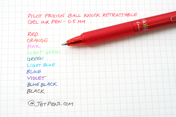 Pilot FriXion Ball Knock Retractable Gel Pen - 0.5 mm - Light Green - PILOT LFBK-23EF-LG