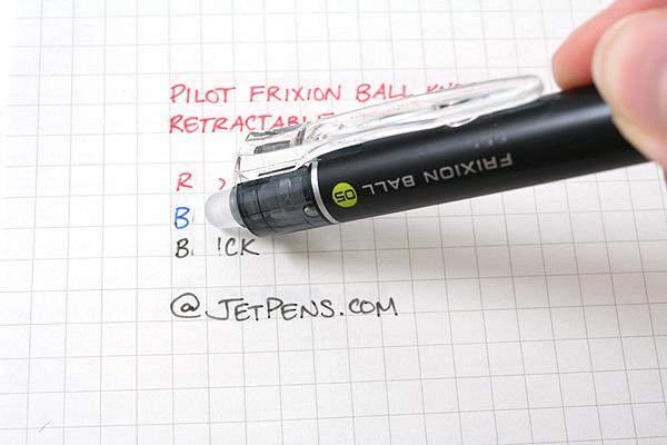 Pilot FriXion Ball Knock Retractable Gel Pen - 0.5 mm - 3 Color Set - PILOT LFBK-69EF-3C