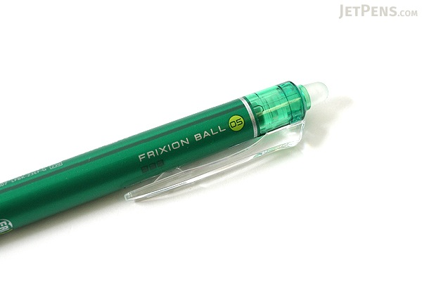 Pilot FriXion Ball Knock Retractable Gel Pen - 0.5 mm - Green - PILOT LFBK-23EF-G