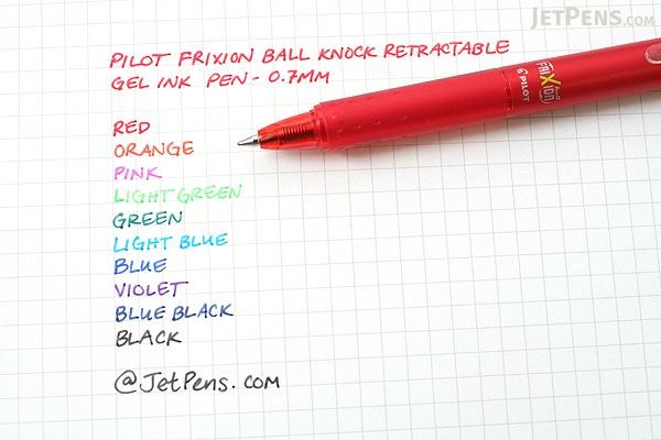 Pilot FriXion Ball Knock Retractable Gel Pen - 0.7 mm - Violet - PILOT LFBK-23F-V