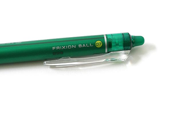 Pilot FriXion Ball Knock Retractable Gel Pen - 0.7 mm - Green - PILOT LFBK-23F-G