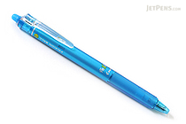 Pilot FriXion Ball Knock Retractable Gel Pen - 0.7 mm - Light Blue - PILOT LFBK-23F-LB