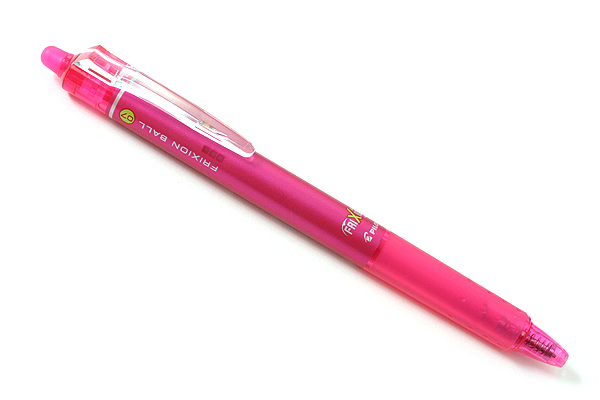 Pilot FriXion Ball Knock Retractable Gel Pen - 0.7 mm - Pink - PILOT LFBK-23F-P