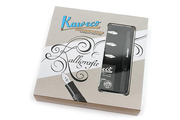 Kaweco Calligraphy Pen Set 4 Nib Sizes Black Body