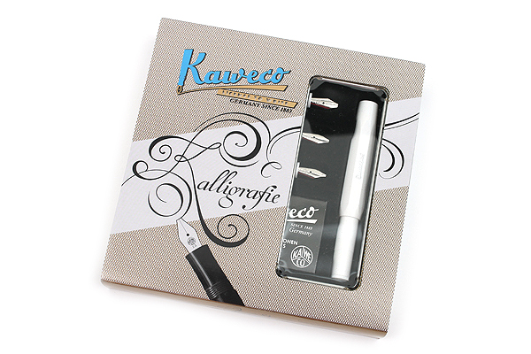 Kaweco Calligraphy Pen Set 4 Nib Sizes White Body