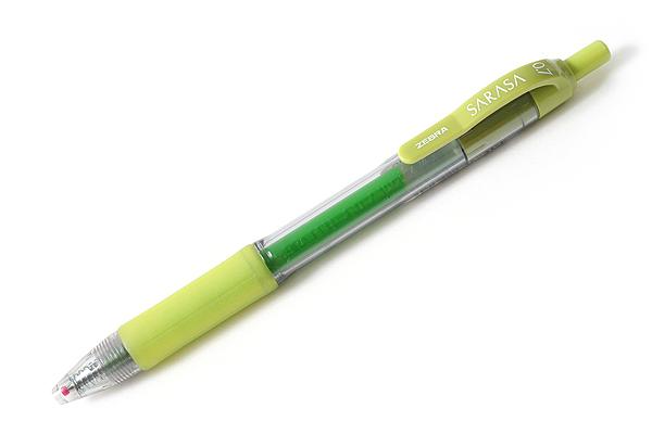Zebra Sarasa Retractable Gel Pen - 0.7 mm - Light Green - ZEBRA 46840