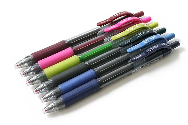 Zebra Sarasa Retractable Gel Pen - 0.7 mm - Fuchsia - ZEBRA 46870