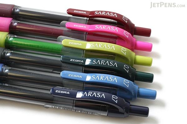 Zebra Sarasa Retractable Gel Pen - 0.7 mm - Mahogany - ZEBRA 46930