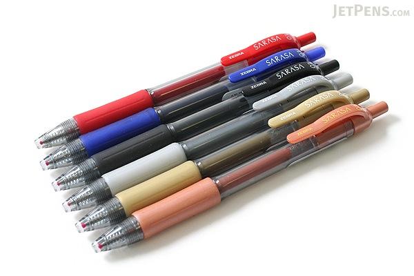 Zebra Sarasa Retractable Gel Pen - 1.0 mm - Red - ZEBRA 46630