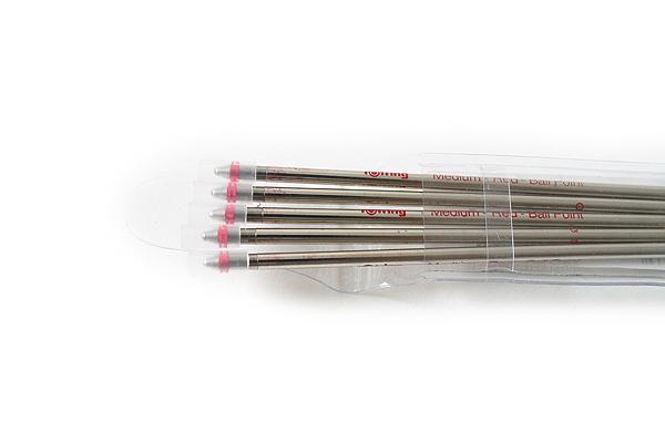 Rotring Ballpoint Multi Pen Refill - D1 - 0.7 mm - Red - Pack of 5 - ROTRING S0891240