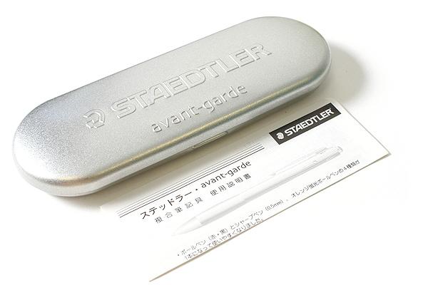 Staedtler Avant Garde 2 Color 0.7 mm Ballpoint Multi Pen + 1.2 mm Fluorescent Orange Highlighter Pen + 0.5 mm Pencil - Blast Black Body - STAEDTLER 927AG-BB