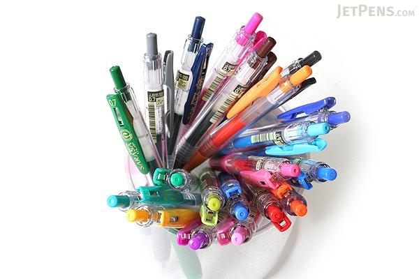 Zebra Sarasa Push Clip Gel Pen - 0.7 mm - Red Orange - ZEBRA JJB15-ROR