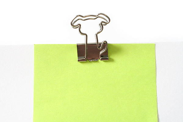 Sun-Star Pictome W Binder Paper Clip - Dog - Pack of 4 - SUN-STAR S3614956