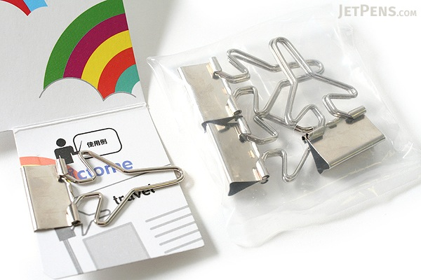Sun-Star Pictome W Binder Paper Clip - Airplane - Pack of 4 - SUN-STAR S3614590