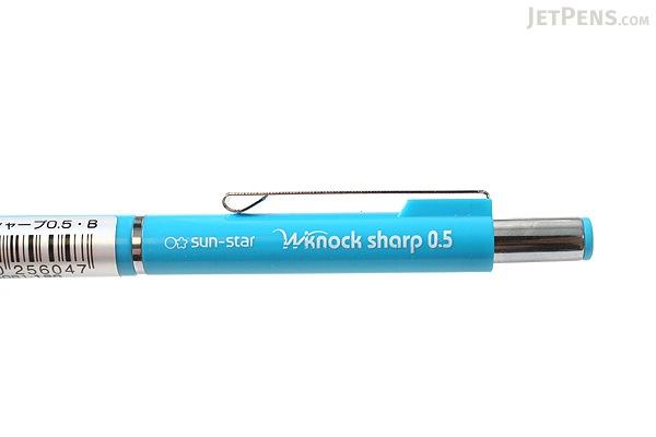 Sun-Star W Knock Mechanical Pencil - 0.5 mm - Blue Body - SUN-STAR S4454081