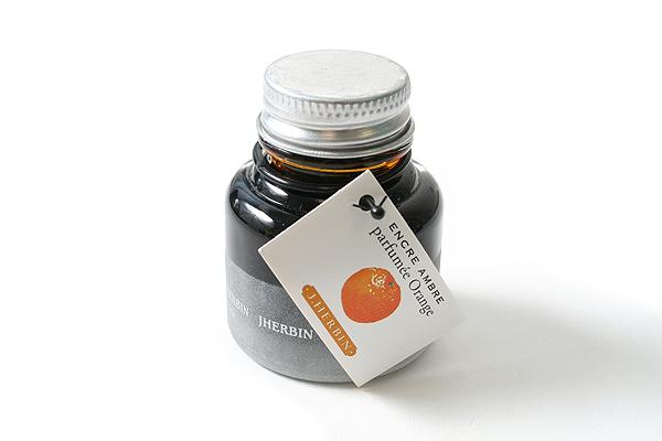 J. Herbin Scented Fountain Pen Ink - 30 ml Bottle - Amber Orange - J. HERBIN H137/56