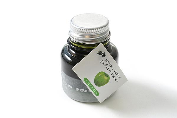 J. Herbin Scented Fountain Pen Ink - 30 ml Bottle - Apple Green - J. HERBIN H137/34