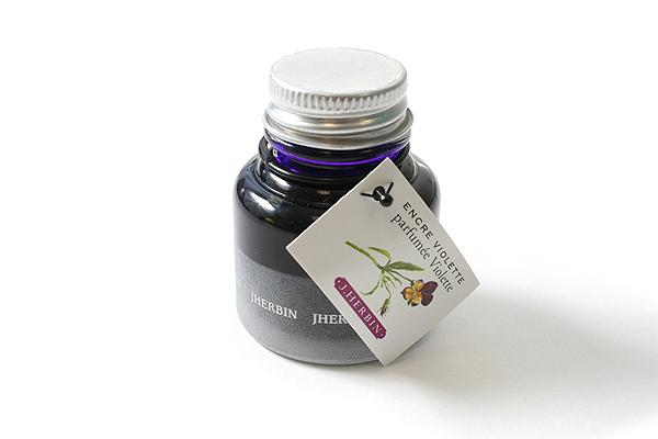 J. Herbin Scented Fountain Pen Ink - 30 ml Bottle - Violet Purple - J. HERBIN H137/77