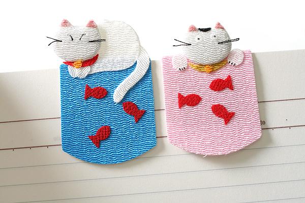 Yumemiya Magnet Bookmark - Cat - Pack of 2 - YUMEMIYA 311011