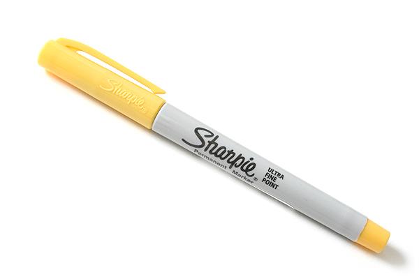 Sharpie 80's Glam Permanent Marker - Ultra Fine Point - Banana Clip Yellow - SANFORD 1785400
