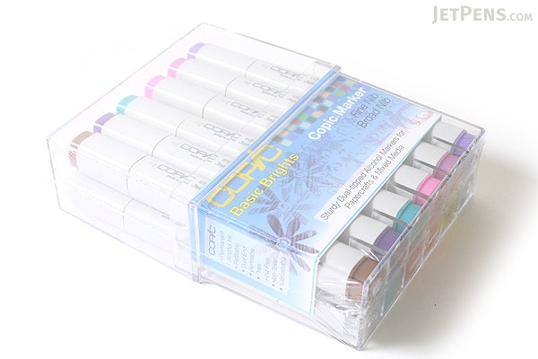 Copic Marker - 12 Papercrafting Bright Color Set - COPIC CSTAMP12B