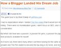 Pro Blogger article screenshot
