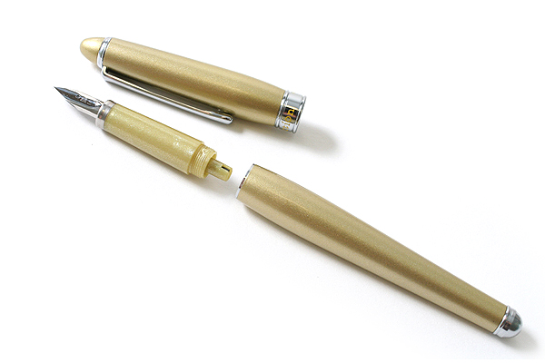 Platinum Affection Fountain Pen - Fine Nib - Metallic Yellow Body - PLATINUM PAF-5000-78