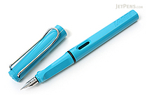 Lamy Fountain Pen - Safari Model - Fine Nib - Aquamarine Blue Body - LAMY L13AEF