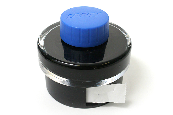 Lamy T52 Fountain Pen Ink + Ink Blotter Tape - 50 ml Bottle - Blue - LAMY LT52BL