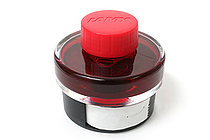 Lamy T52 Fountain Pen Ink + Ink Blotter Tape - 50 ml Bottle - Red - LAMY LT52RD
